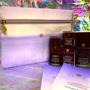 Tatcha Silk Peony violet c serum & mask eye masks